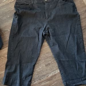 Jean Capris Denim 18 Plus Size
